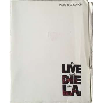 TO LIVE AND DIE IN LA Program - 9x12 in. - 1984 - William Friedkin, Willem Dafoe