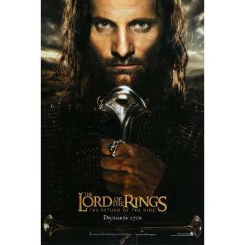 LE SEIGNEUR DES ANNEAUX - LE RETOUR DU ROI Affiche de film Aragorn Style - 69x101 cm. - 2003 - Viggo Mortensen, Peter Jackson