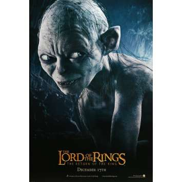 LORD OF THE RING - THE RETURN OF THE KING Movie Poster Gollum Style - 27x40 in. - 2003 - Peter Jackson, Andy Serkis