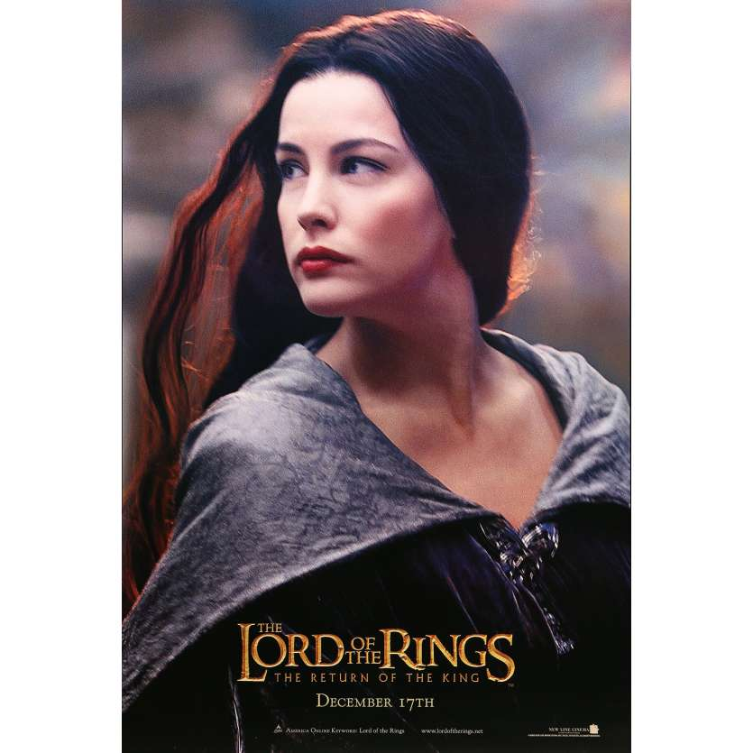LORD OF THE RING - THE RETURN OF THE KING Movie Poster Arwen Style - 27x40 in. - 2003 - Peter Jackson, Liv Tyler