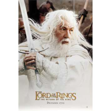 LORD OF THE RING - THE RETURN OF THE KING Movie Poster Gandalf Style - 27x40 in. - 2003 - Peter Jackson, Ian McKellen