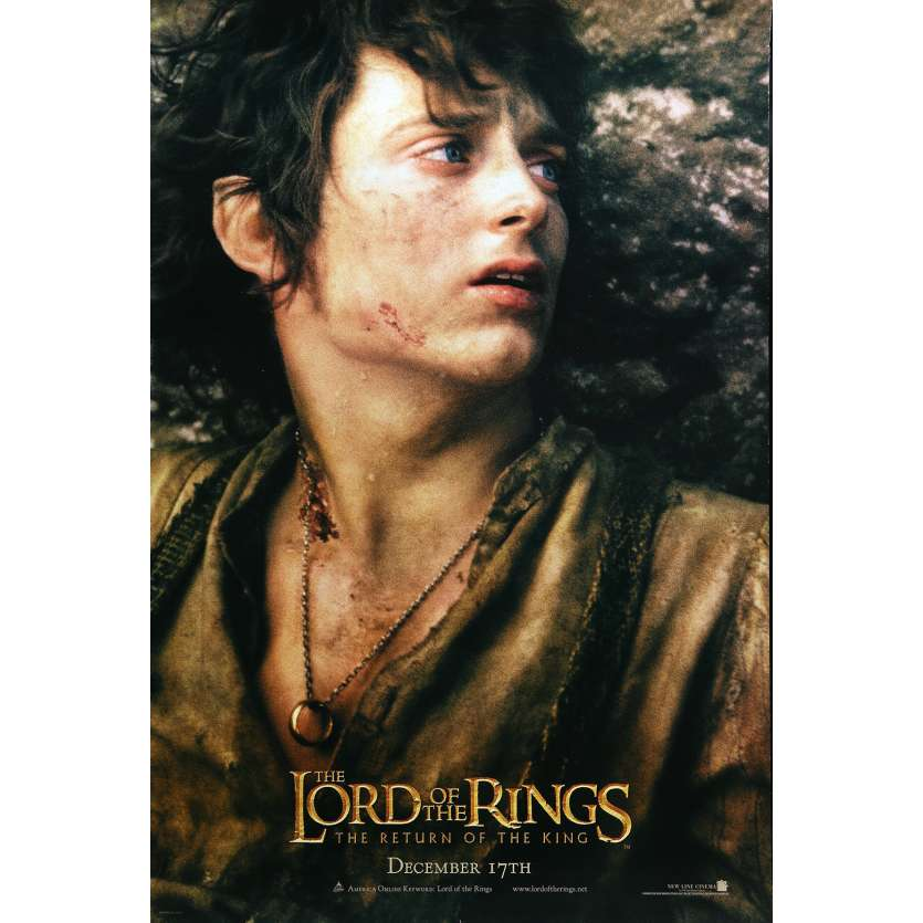 LORD OF THE RING - THE RETURN OF THE KING Movie Poster Frodo Style - 27x40 in. - 2003 - Peter Jackson, Elijah Wood