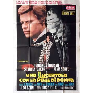 LIZARD IN A WOMEN'S SKIN / SCHIZOID Movie Poster - 39x55 in. - 1971 - Lucio Fulci, Florinda Bolkan