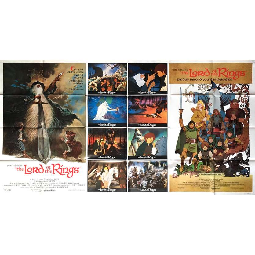 THE LORD OF THE RINGS (CARTOON) Movie Poster - 41x77 in. - 1978 - Ralph Bakshi, John Hurt