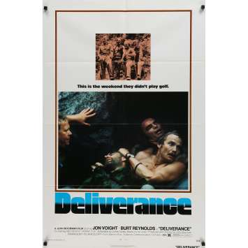 DELIVERANCE Movie Poster - 29x41 in. - 1972 - John Boorman, Burt Reynolds