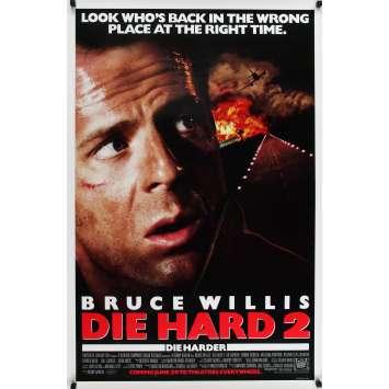 58 MINUTES POUR VIVRE Affiche de film - 69x104 cm. - 1990 - Bruce Willis, Renny Harlin