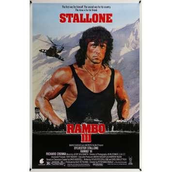 RAMBO 3 Affiche de film - 69x104 cm. - 1988 - Richard Crenna, Sylvester Stallone