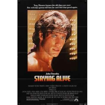 STAYING ALIVE Affiche de film - 69x104 cm. - 1983 - John Travolta, Sylvester Stallone