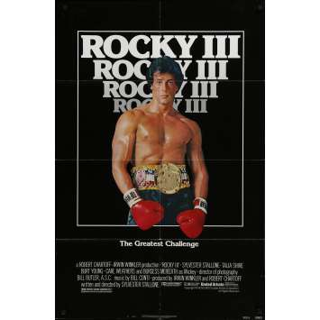 ROCKY 3 Movie Poster - 29x41 in. - 1982 - Sylvester Stallone, Mr. T