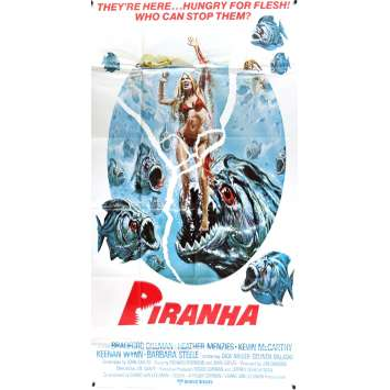 PIRANHA Movie Poster - 41x81 in. - 1978 - Joe Dante, Kevin McCarthy
