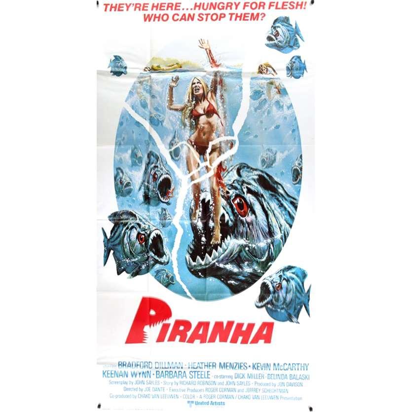PIRANHA Movie Poster - 41x81 in. - 1978 - Joe Dante, Kevin McCarthy
