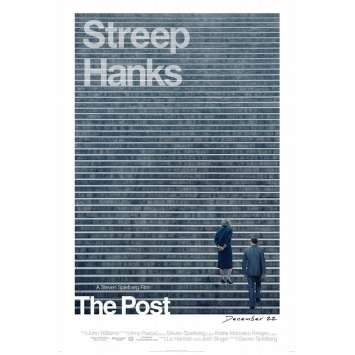 THE POST Affiche de film DS - Adv. - 69x104 cm. - 2018 - Meryl Streep, Steven Spielberg