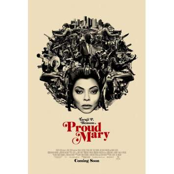 PROUD MARY Movie Poster DS - Adv. - 29x41 in. - 2018 - Babak Najafi, Taraji P. Henson