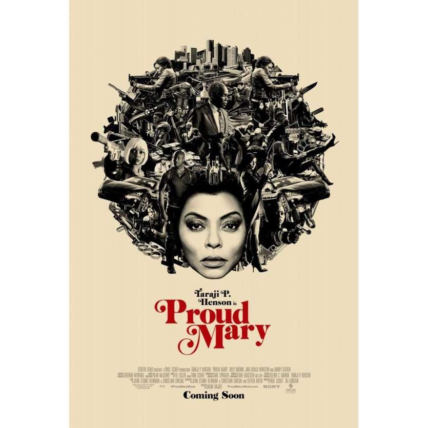 PROUD MARY Affiche de film DS - Adv. - 69x104 cm. - 2018 - Taraji P. Henson, Babak Najafi
