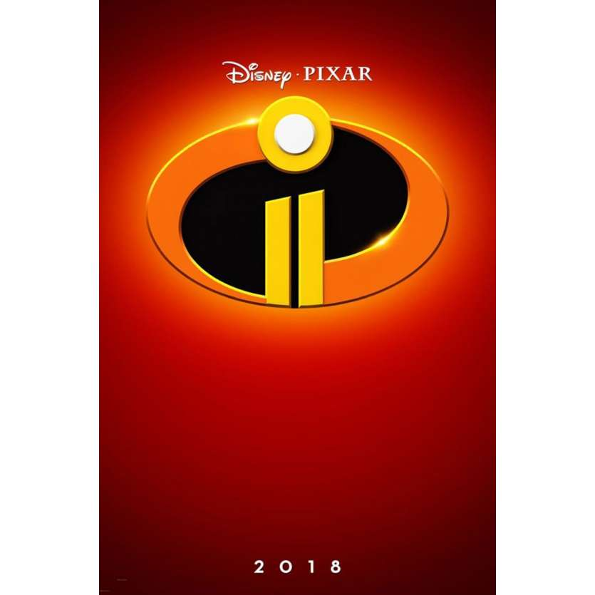 INCREDIBLES 2 Movie Poster DS - Adv. - 29x41 in. - 2018 - Brad Bird, Samuel L. Jackson