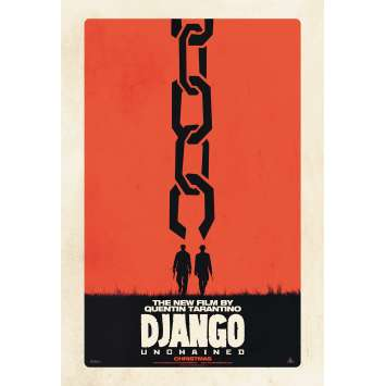 DJANGO UNCHAINED Movie Poster DS - Adv. - 29x41 in. - 2012 - Quentin Tarantino, Jamie Foxx