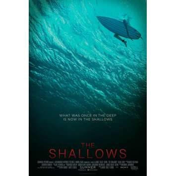 INSTINCT DE SURVIE - THE SHALLOWS Affiche de film DS - Adv. - 69x104 cm. - 2016 - Blake Lively, Jaume Collet-Serra
