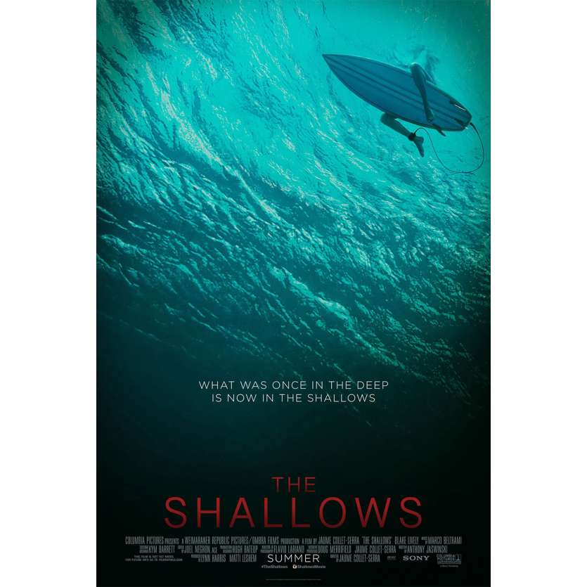 INSTINCT DE SURVIE - THE SHALLOWS Affiche de film DS - Adv. - 69x104 cm. - 2016 - Blake Lively, Jaume Collet-Serra