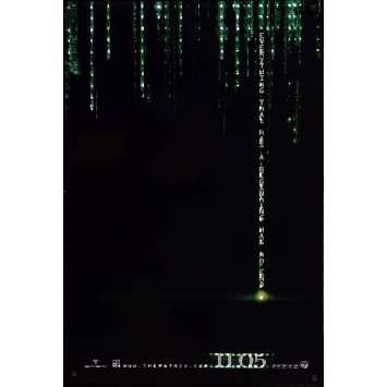 MATRIX REVOLUTION Affiche de film Holo RARE! 69x104 - 2006 - Keanu Reeves, Wachovsky