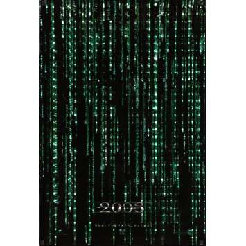 MATRIX RELOADED 2003 US Movie Poster 27x40 - 2005 - Wachovsky, Keanu Reeves