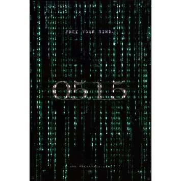 MATRIX RELOADED Affiche de film Holo RARE ! 69x104 - 2005 - 05.15