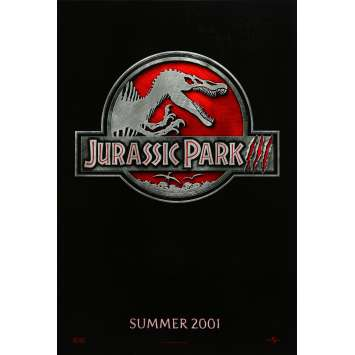 JURASSIC PARK III Movie Poster Teaser - 29x41 in. - 2001 - Steven Spielberg, Sam Neil