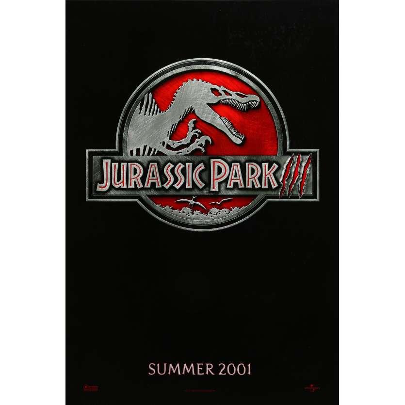 JURASSIC PARK 3 Affiche de film Teaser - 69x104 cm. - 2001 - Sam Neil, Steven Spielberg