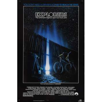 EXPLORERS Movie Poster Def. - 29x41 in. - 1985 - Joe Dante, Ethan Hawke