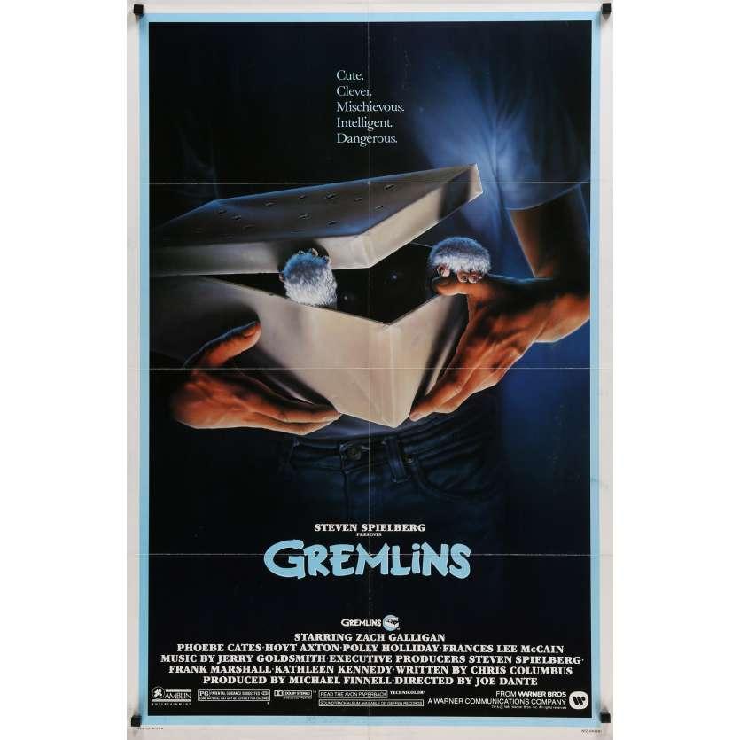 GREMLINS US Movie Poster 29x41 - 1984 - Joe Dante, Zach Galligan