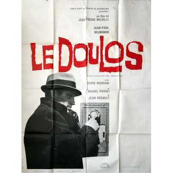 LE DOULOS / THE FINGER MAN Movie Poster - 47x63 in. - 1962 - Jean-Pierre Melville, Jean-Paul Belmondo