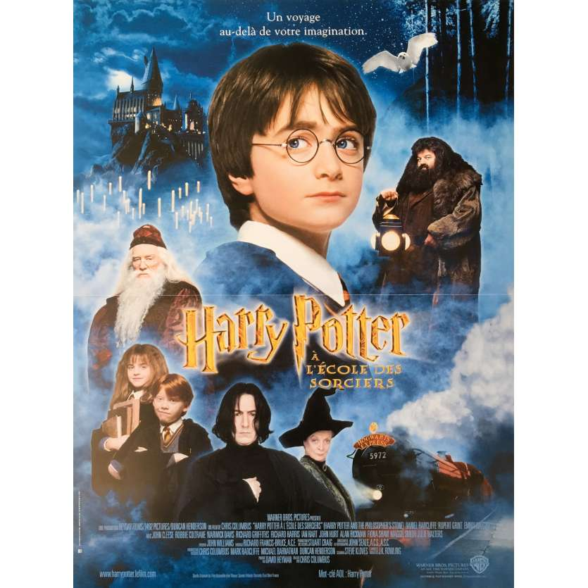 HARRY POTTER Movie Poster - 15x21 in. - 2001 - Chris Colombus, Daniel Radcliffe