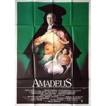 AMADEUS Affiche de Film Italienne -1984 - Milos Forman
