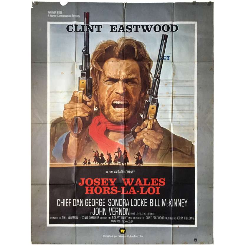 JOSEY WALES French Movie Poster 47x63 '76 Clint Eastwood