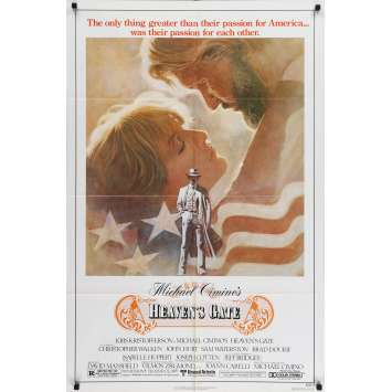 LES PORTES DU PARADIS Affiche de film US '81 Michael Cimino, Isabelle Huppert
