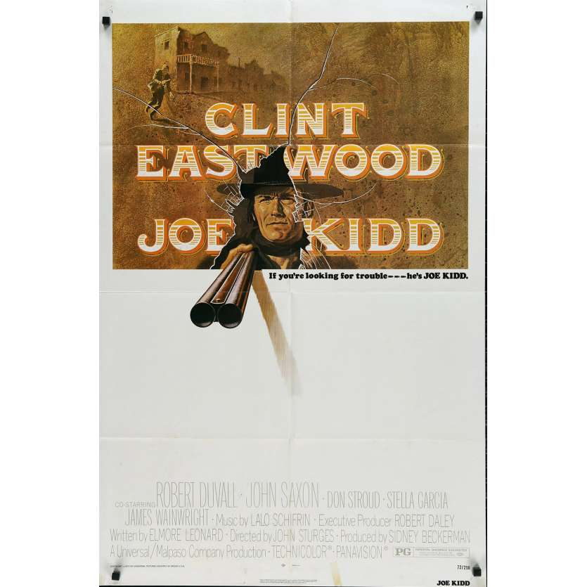 JOE KIDD US Movie Poster 29x41 - 1972 - John Sturges, Clint Eastwood