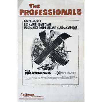 LES PROFESSIONNELS Dossier de presse US - 1966 - Richard Brooks, Burt Lancaster