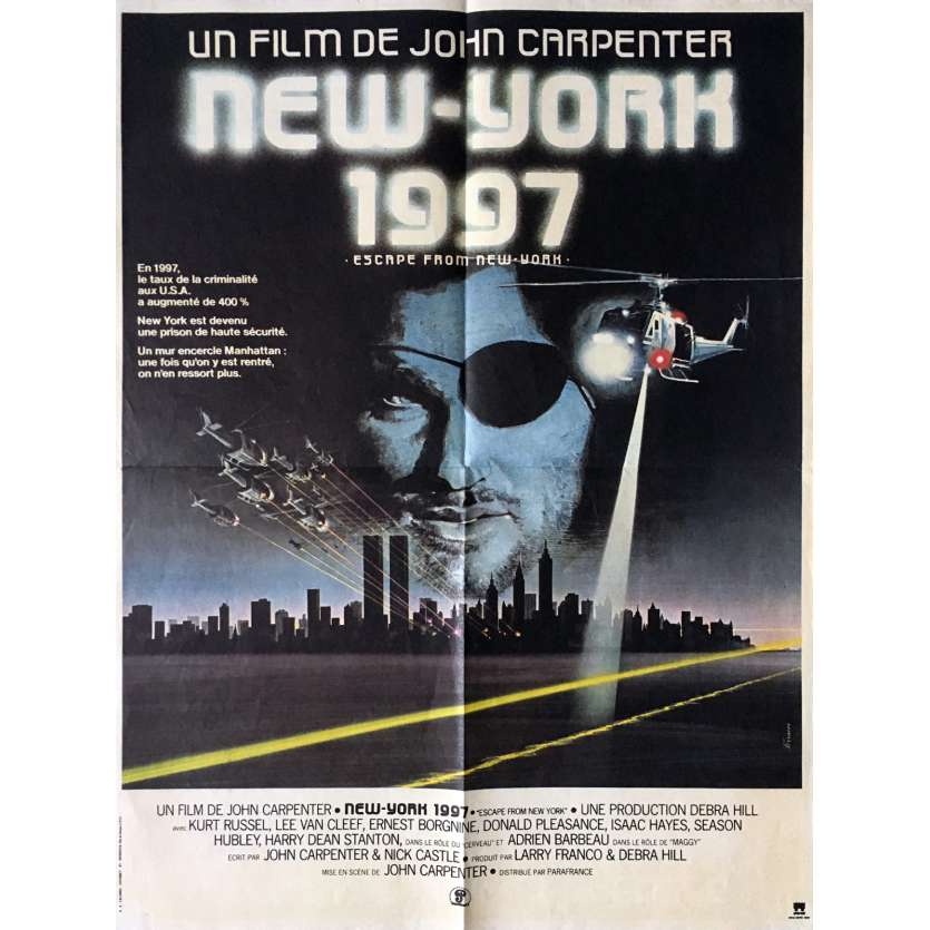 ESCAPE FROM NEW-YORK Movie Poster 15x21 in. French - 1981 - John Carpenter, Kurt Russel