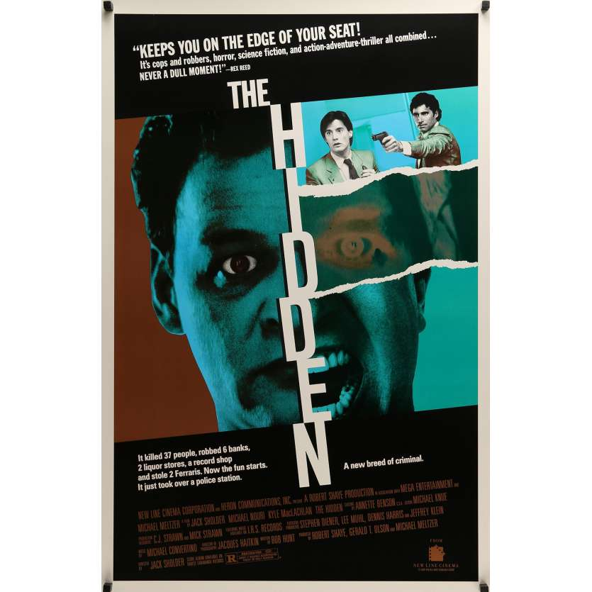 HIDDEN 1sh '87 it's cops & robbers, horror, and action-adventure thriller all combined!