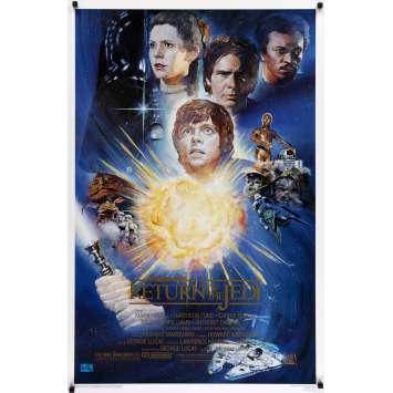STAR WARS - THE RETURN OF THE JEDI Signed Kilian Movie Poster - Kazuhiko Sano