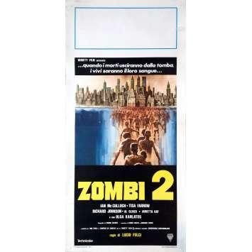 L'ENFER DES ZOMBIES Affiche de film 33x71 cm - 1979 - Tisa Farrow, Lucio Fulci
