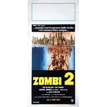 ZOMBIE Movie Poster 13x28 in. - 1979 - Lucio Fulci, Tisa Farrow
