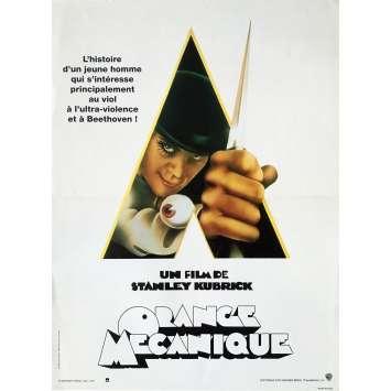 ORANGE MECANIQUE Affiche de film 40x60 - R1990 - Malcom McDowell, Stanley Kubrick