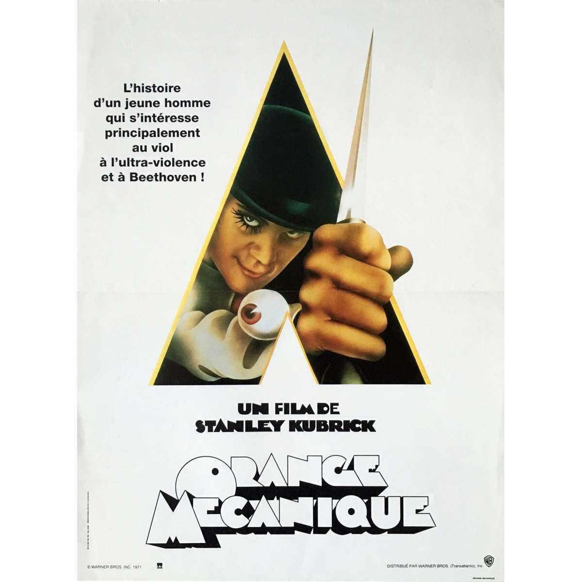 CLOCKWORK ORANGE Movie Poster A Clockwork Orange Movie Poster Original