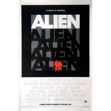 ALIEN Movie Poster Teaser - 29x41 in. - 1979 - Ridley Scott, Sigourney Weaver