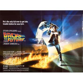 BACK TO THE FUTURE Movie Poster - 30x40 in. - 1985 - Robert Zemeckis, Michael J. Fox