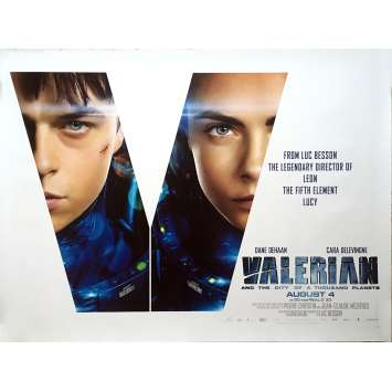 VALERIAN Movie Poster - 30x40 in. - 2017 - Luc Besson, Dane DeHaan