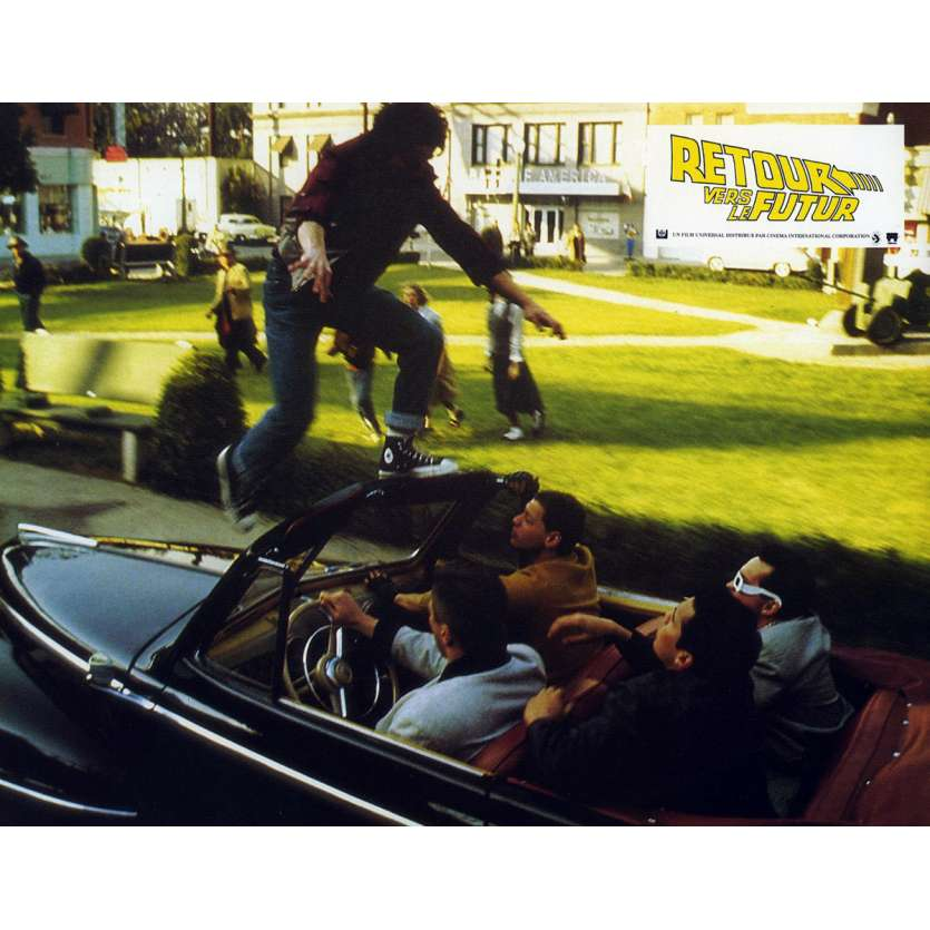 BACK TO THE FUTURE French Lobby Card N5 9x12 - 1985 - Robert Zemeckis, Michael J. Fox