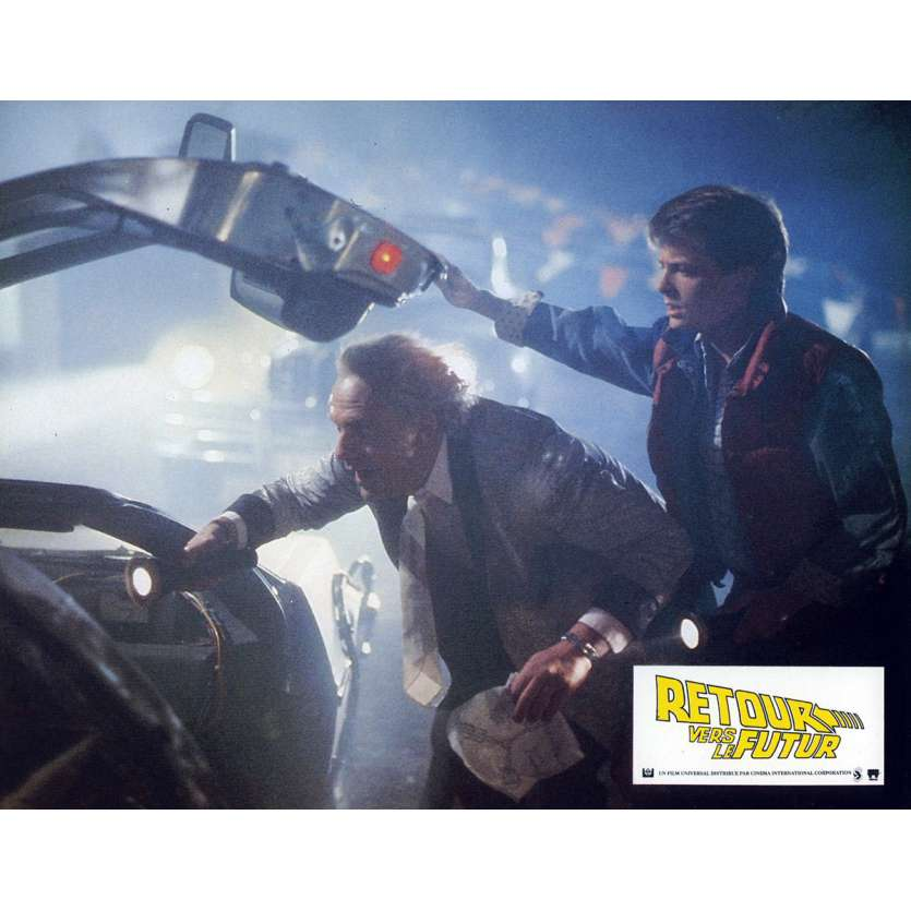 BACK TO THE FUTURE French Lobby Card N6 9x12 - 1985 - Robert Zemeckis, Michael J. Fox