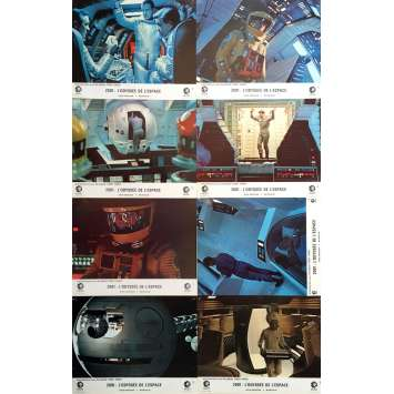 2001 A SPACE ODYSSEY Lobby Cards x8, Set B - 9x12 in. - 1968 - Stanley Kubrick, Keir Dullea