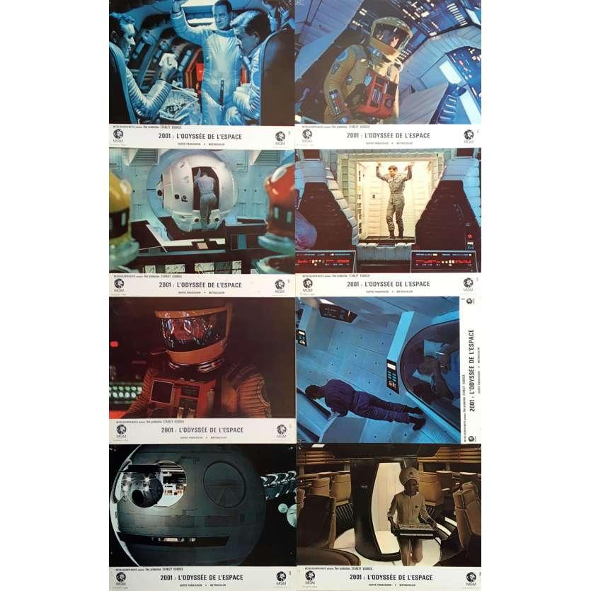 2001 L'ODYSSEE DE L'ESPACE Photos de film x8, Set B - 21x30 cm. - 1968 - Keir Dullea, Stanley Kubrick